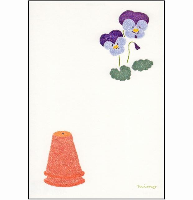 ひらいみも ポストカード(春の風物詩:パンジー)の画像