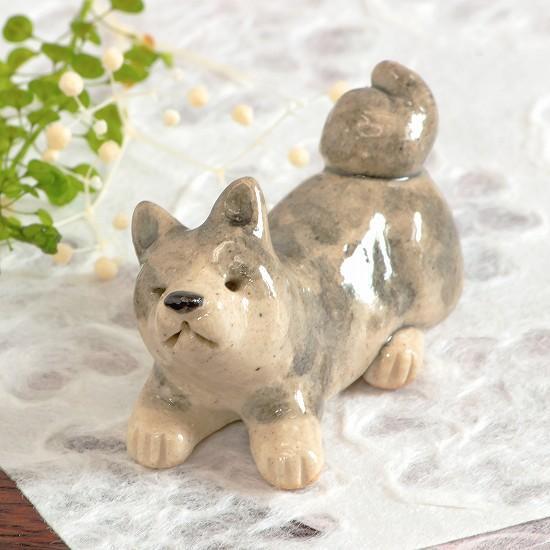 豆屋 箸置き(秋田犬 グレイ)の画像
