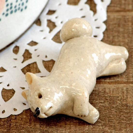豆屋 箸置き(秋田犬 白)の画像