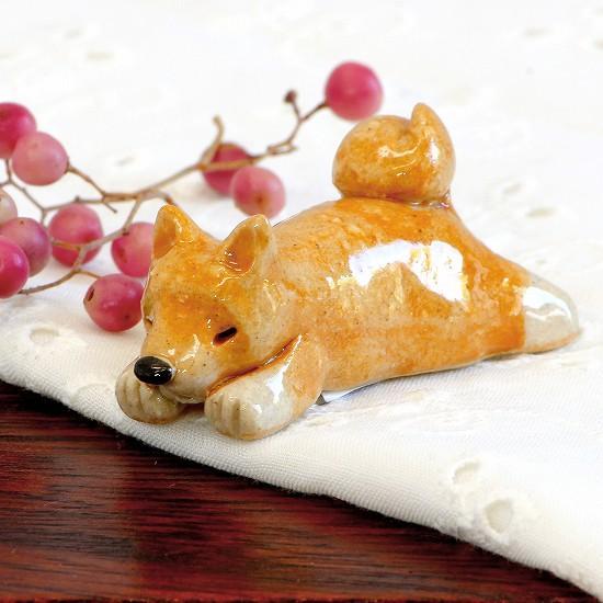 豆屋 箸置き(柴犬 ひらめ寝)の画像