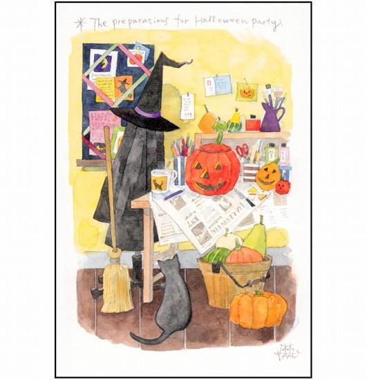 三好貴子 ポストカード(ハロウィンの準備)の画像