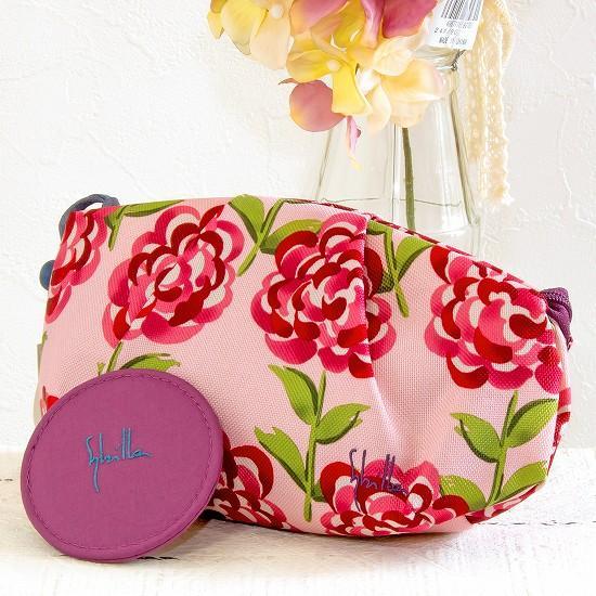シビラ 化粧ポーチ(丸花)ピンクの画像