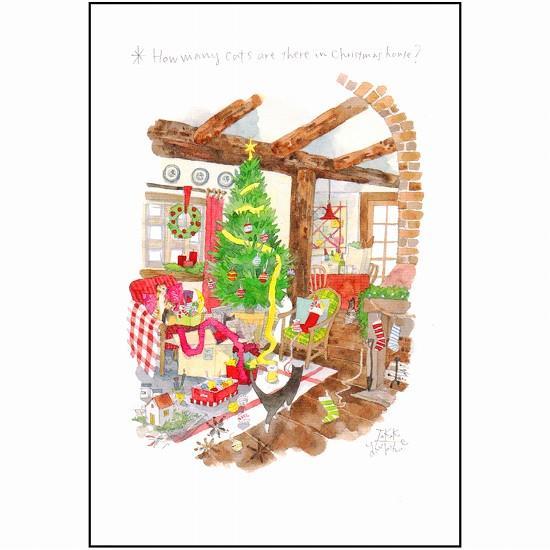 三好貴子 ポストカード(クリスマスハウス)画像
