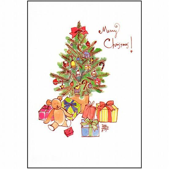 三好貴子 ポストカード(クリスマスツリー)の画像
