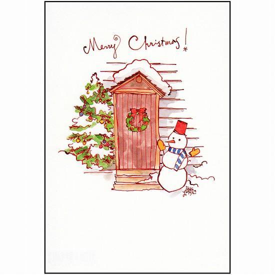 三好貴子 ポストカード(クリスマスドア)の画像