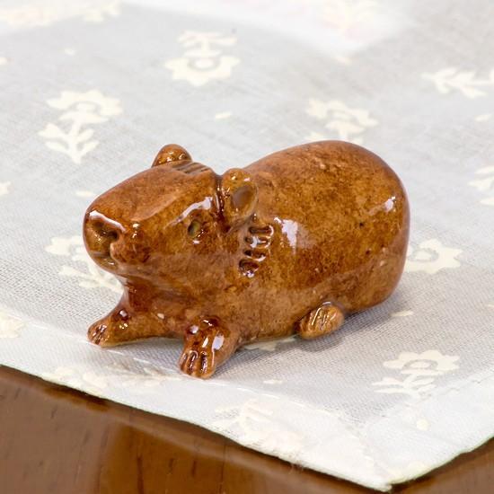 豆屋 箸置き(カピバラ ふせ)の画像