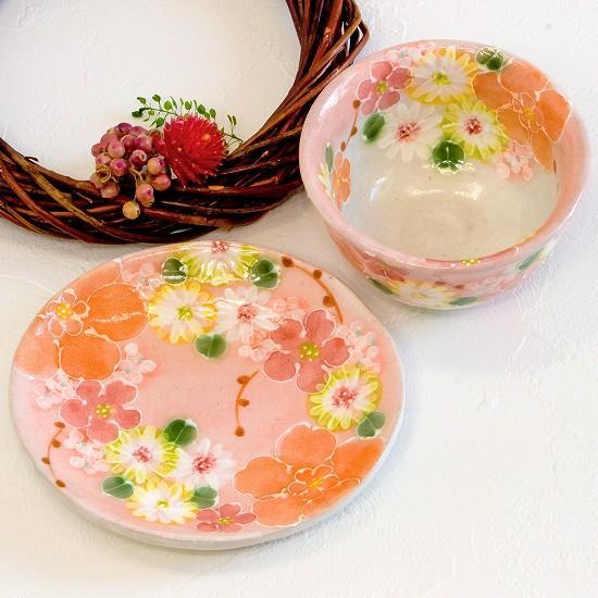 工房ゆずりは 茶菓セット(紅彩花化粧)No.31画像