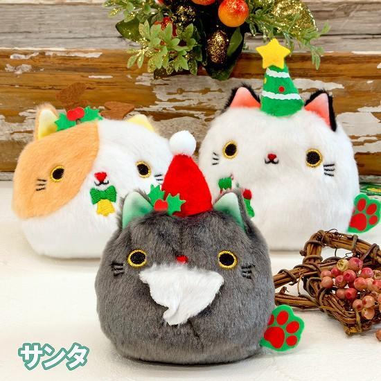 クリスマス ねこだんご(サンタ)の画像