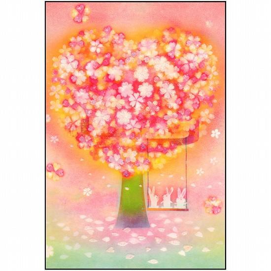 桜ポストカード(ブランコ)の画像