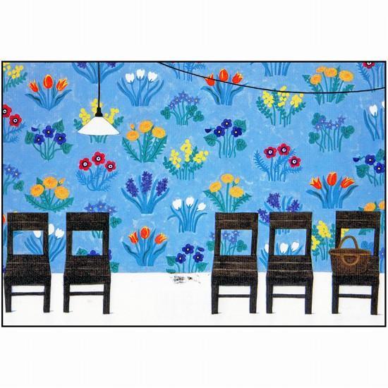マツモトヨーコ ポストカード(5つの椅子)の画像