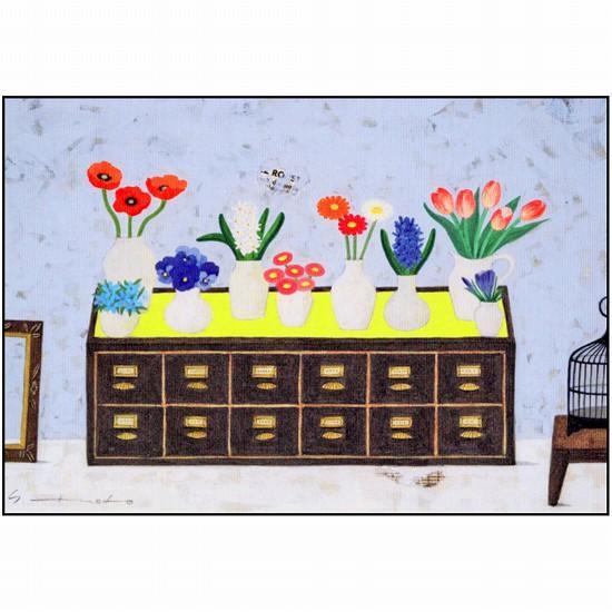 マツモトヨーコ ポストカード(9つの花器)の画像