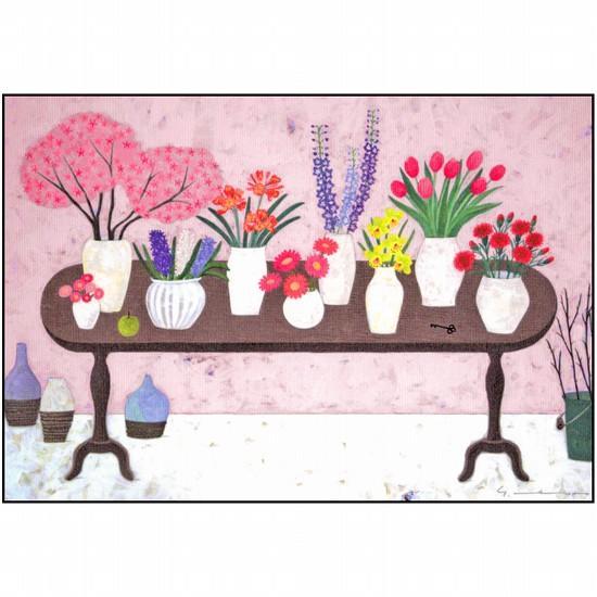 マツモトヨーコ ポストカード(桜部屋の花)の画像