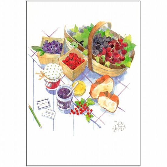 三好貴子 ポストカード(ベリーとパン)の画像