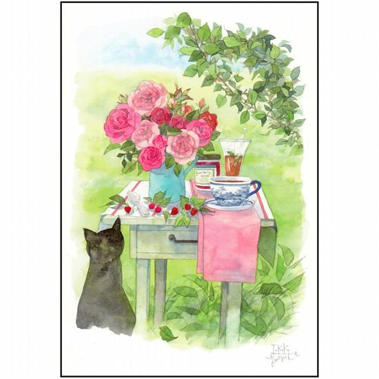 三好貴子 ポストカード(バラのテーブル)の画像