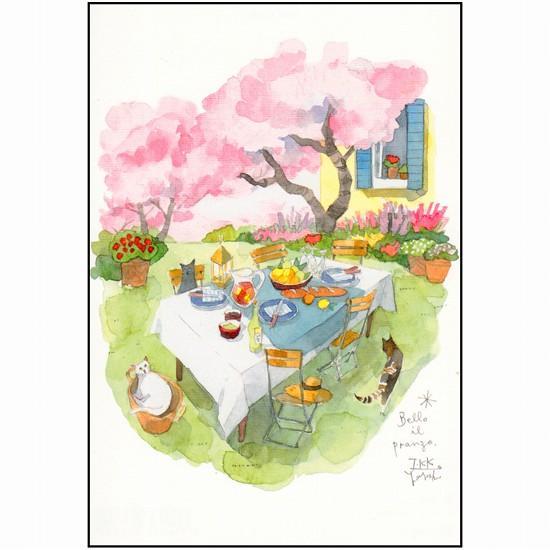 三好貴子 ポストカード(桜とランチ)の画像