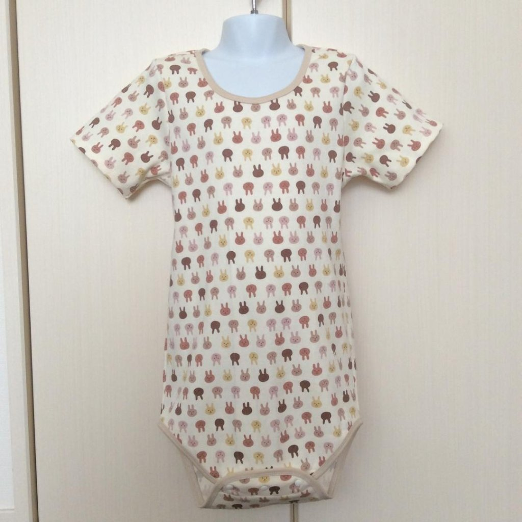 Romper - Brown Rabbits Pattern - Standard Type の画像