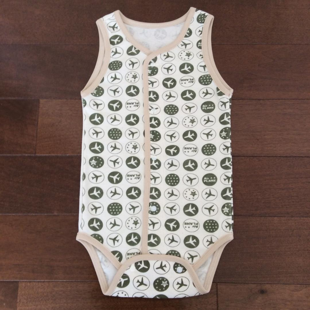 Romper - Airplanes Pattern - Open Front Type画像