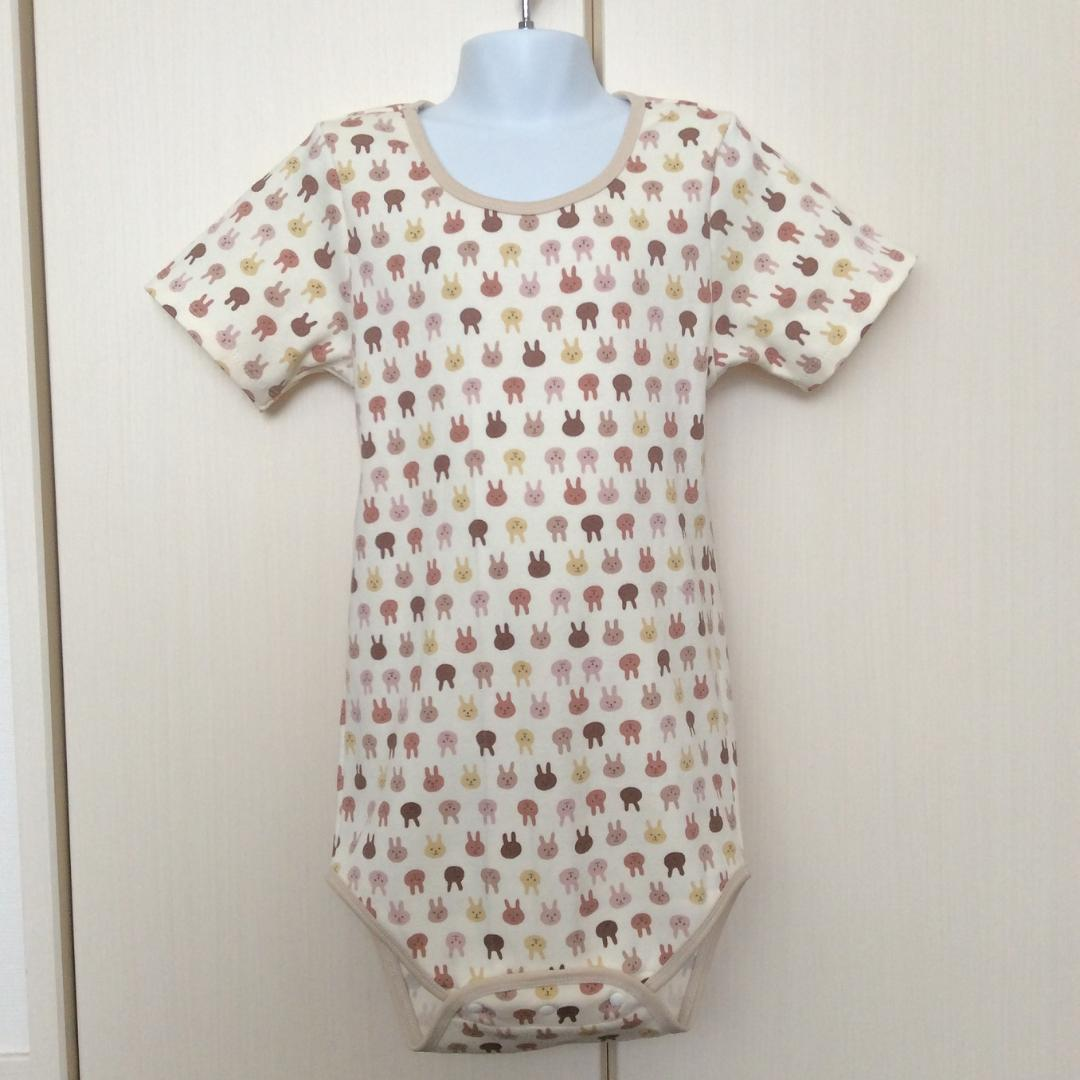 Romper - Brown Rabbits Pattern - Open Front Type画像