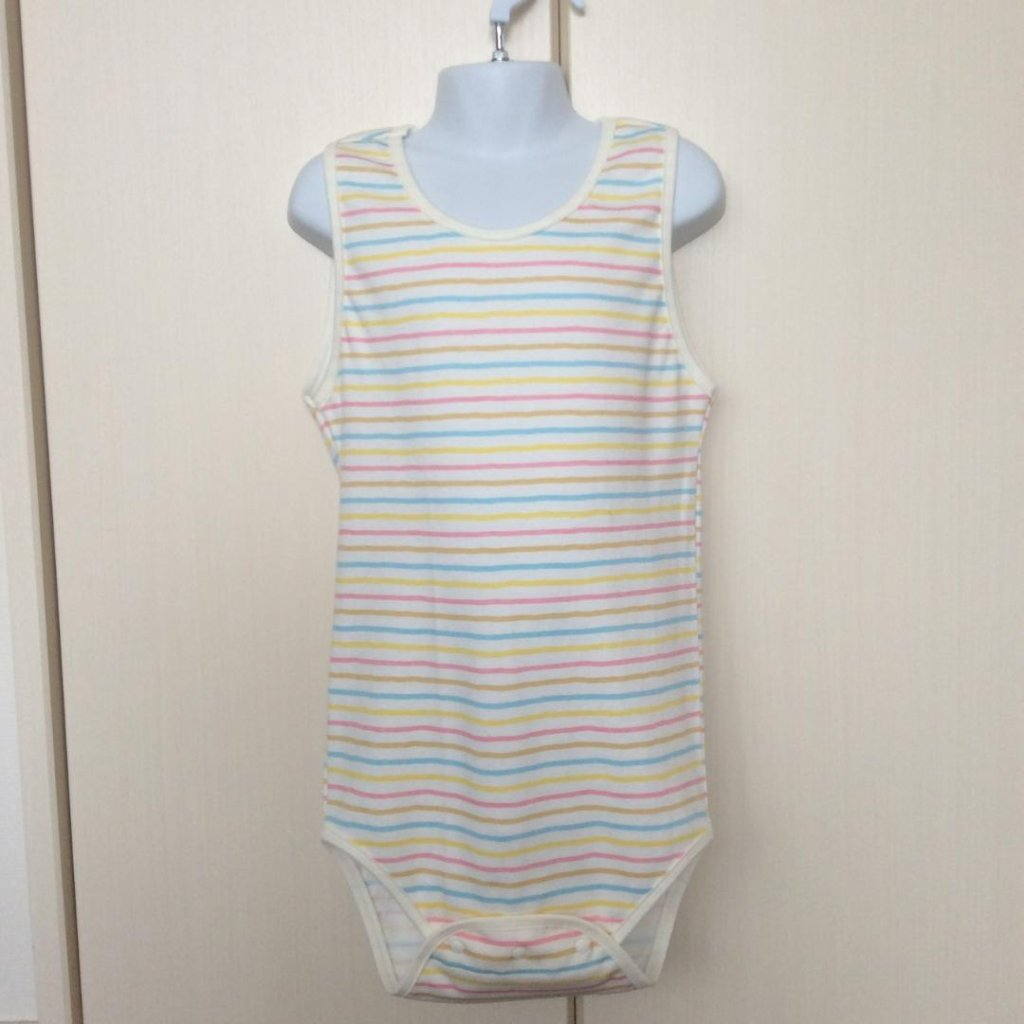 Romper - Pastel Stripes Pattern - Combination Type の画像
