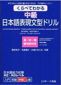 くらべてわかる中級日本語表現文型ドリルの画像