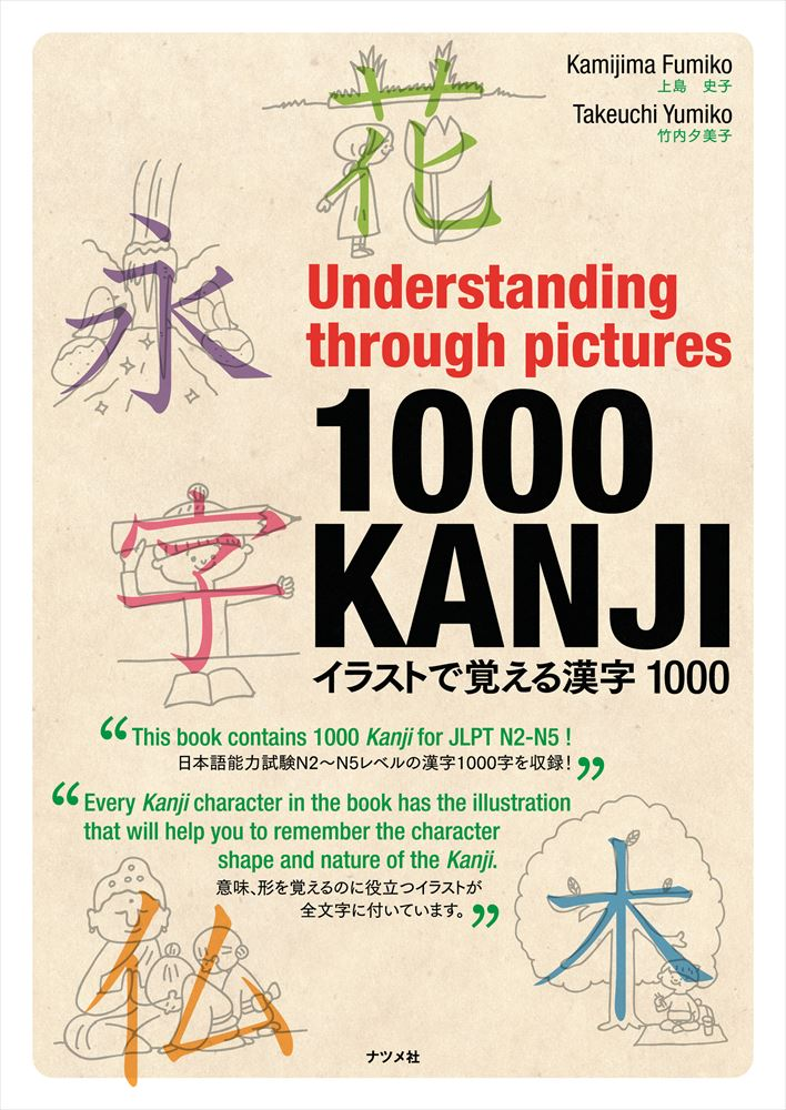 Understanding through pictures1000 KANJI イラストで覚える漢字1000画像