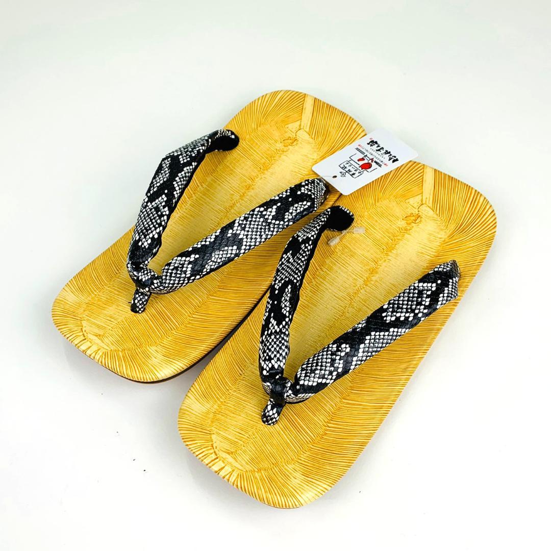 【日本製】紳士雪駄(印伝鼻緒)Lサイズ[06]画像
