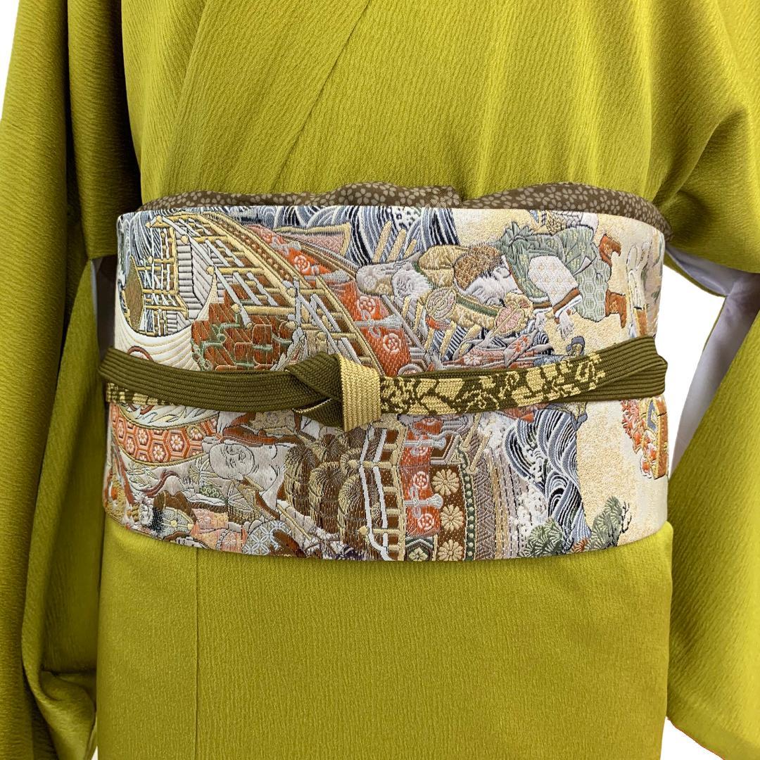 【日本製】高級正絹お太鼓帯 ☆Mサイズ 造り帯[SA003-OA]画像