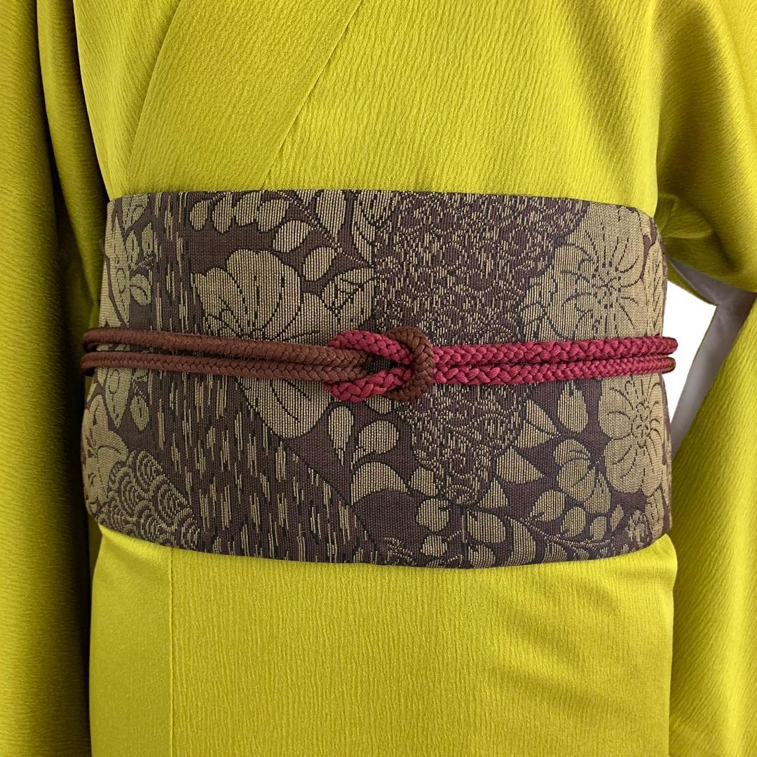 【日本製】高級正絹お太鼓帯 ☆Mサイズ 造り帯[SA003-OB]画像