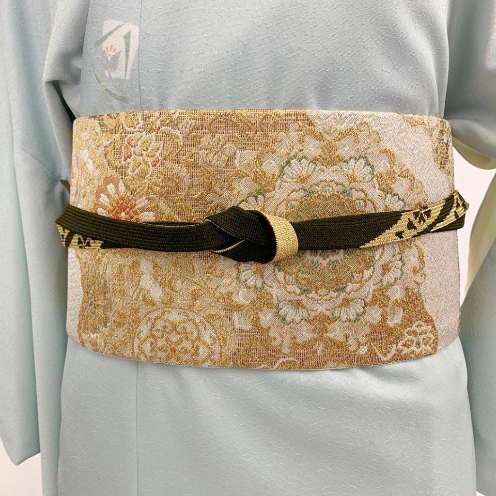 【日本製】高級正絹お太鼓帯 ☆Sサイズ 造り帯[SN001-OA]の画像
