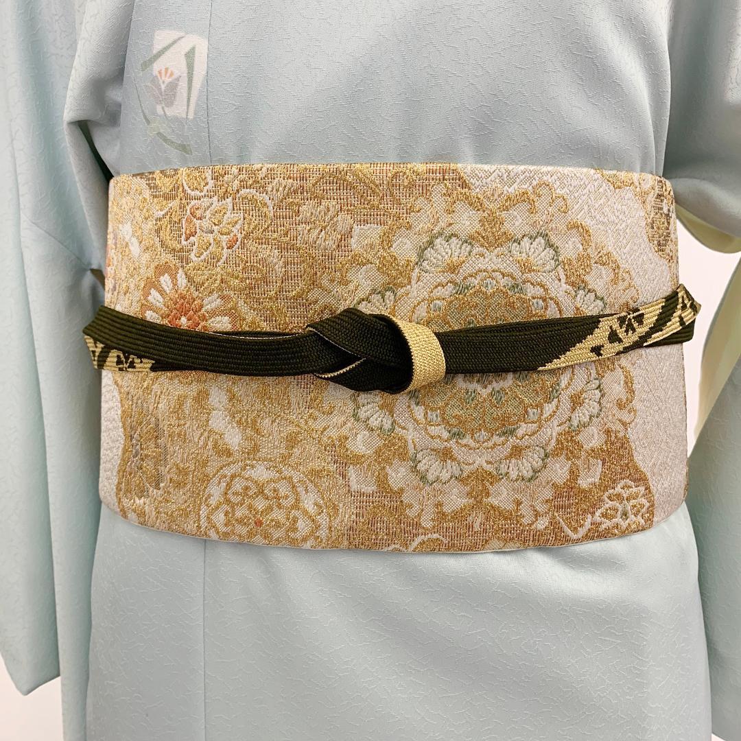 【日本製】高級正絹お太鼓帯 ☆Sサイズ 造り帯[SN001-OA]画像