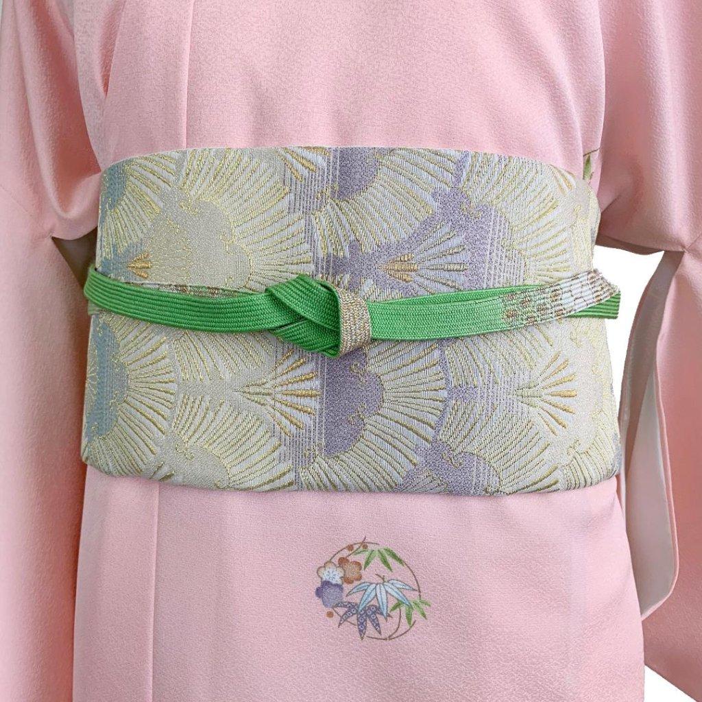 【日本製】高級正絹お太鼓帯 ☆Sサイズ 造り帯[SN002-OA]の画像
