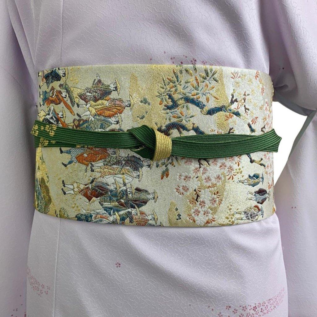 【日本製】高級正絹お太鼓帯 ☆Mサイズ 造り帯[SN003-OA]の画像