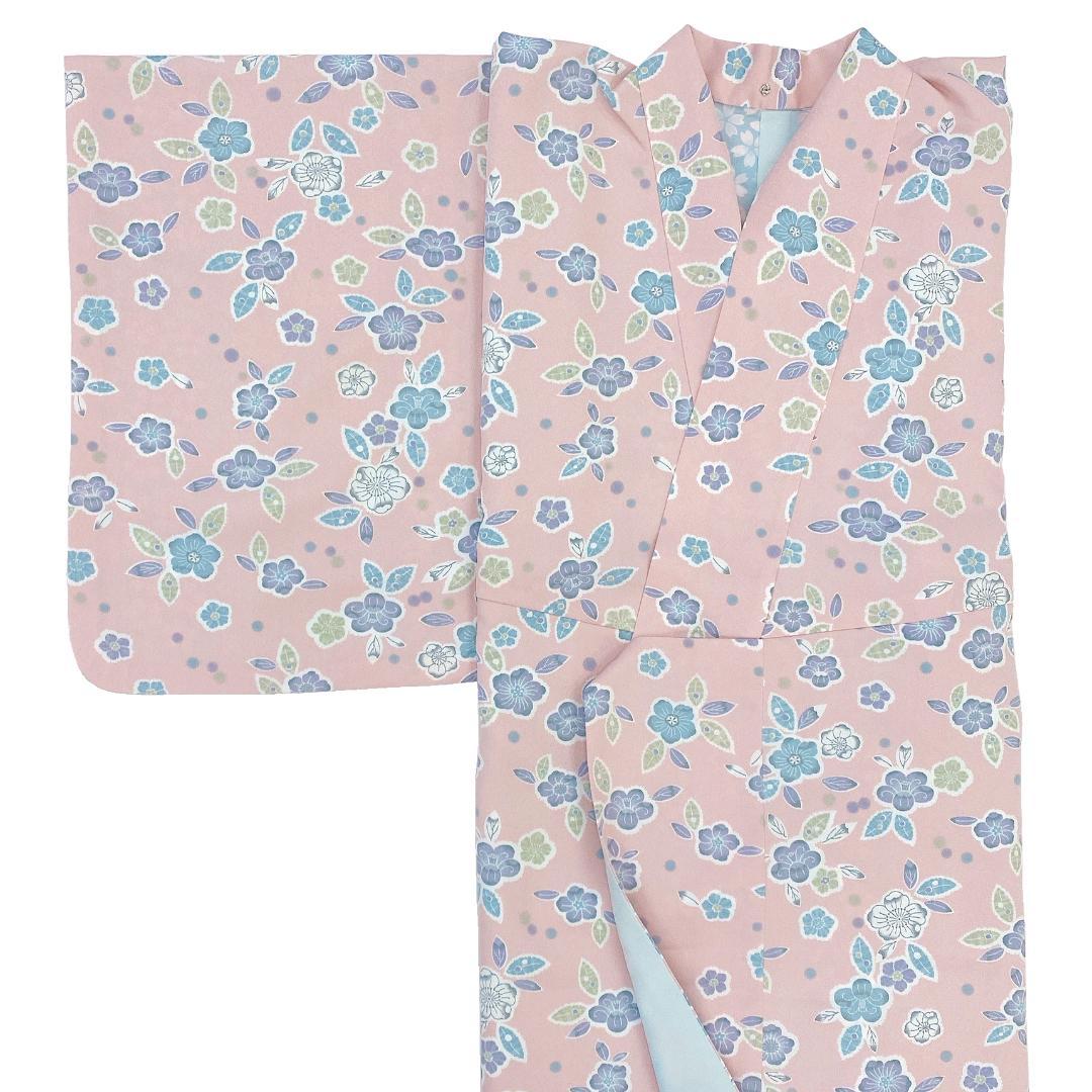 【日本製】 単品(衿付)高級着物 簡単な半衿プレゼント![ピンク系][A011][Sサイズ]画像