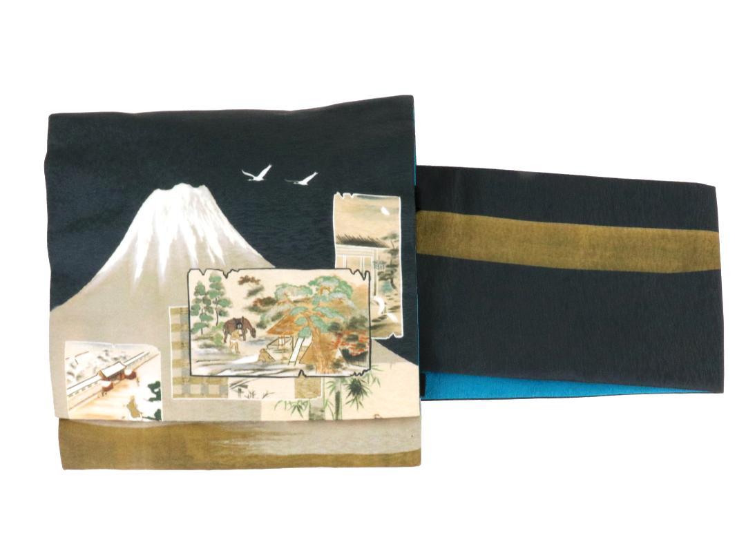 【日本製】オリジナルデザイン京袋お太鼓帯 造り帯 S/M/Lサイズ[No9 富士山]画像