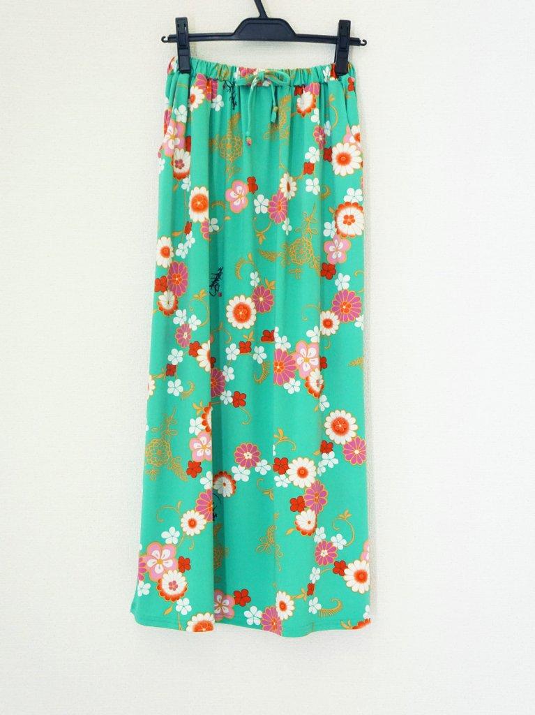 和柄セットアップ(スカート)2-E(薄緑)の画像