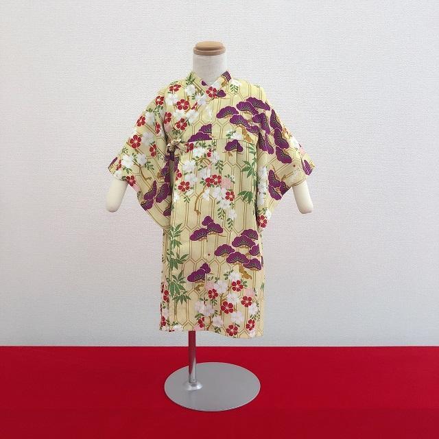 子供浴衣(花ごろも・黄)《80〜110》全国店舗にて販売中♪画像