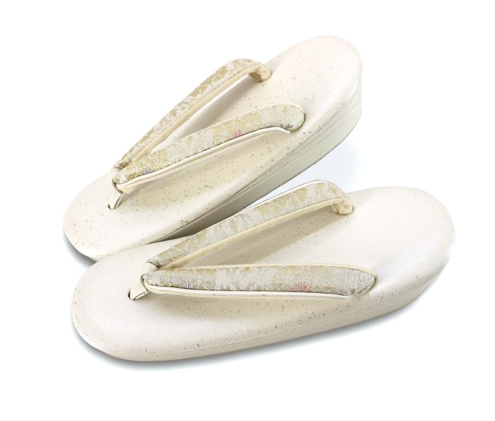 【日本製】織姫草履 Mサイズ 白画像