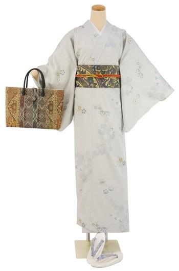 【日本製】衿付き高級着物 [MTサイズ]着物・帯・帯締め+簡単な半衿の4点セット☆[126]【送料無料】の画像