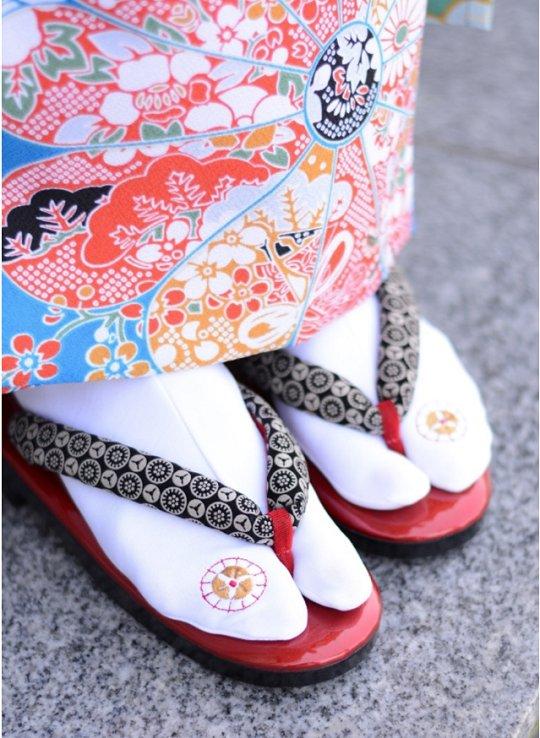 ストレッチ足袋(オリジナル刺繍) 3足セット画像