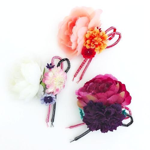 《和装》つまみ細工髪飾り②-G画像