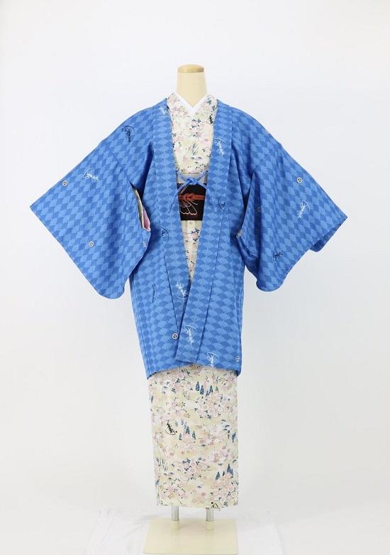 琴音羽織~ことねはおり~ 菊紋 青 の画像