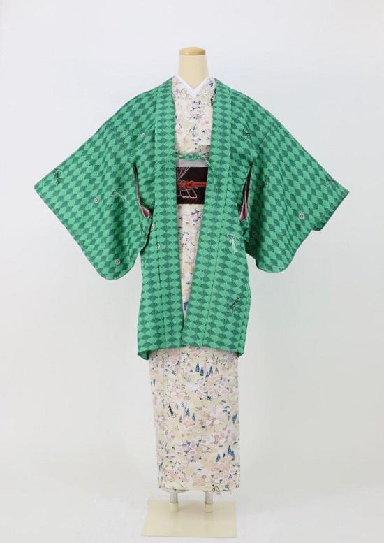 琴音羽織〜ことねはおり〜 菊紋 緑の画像