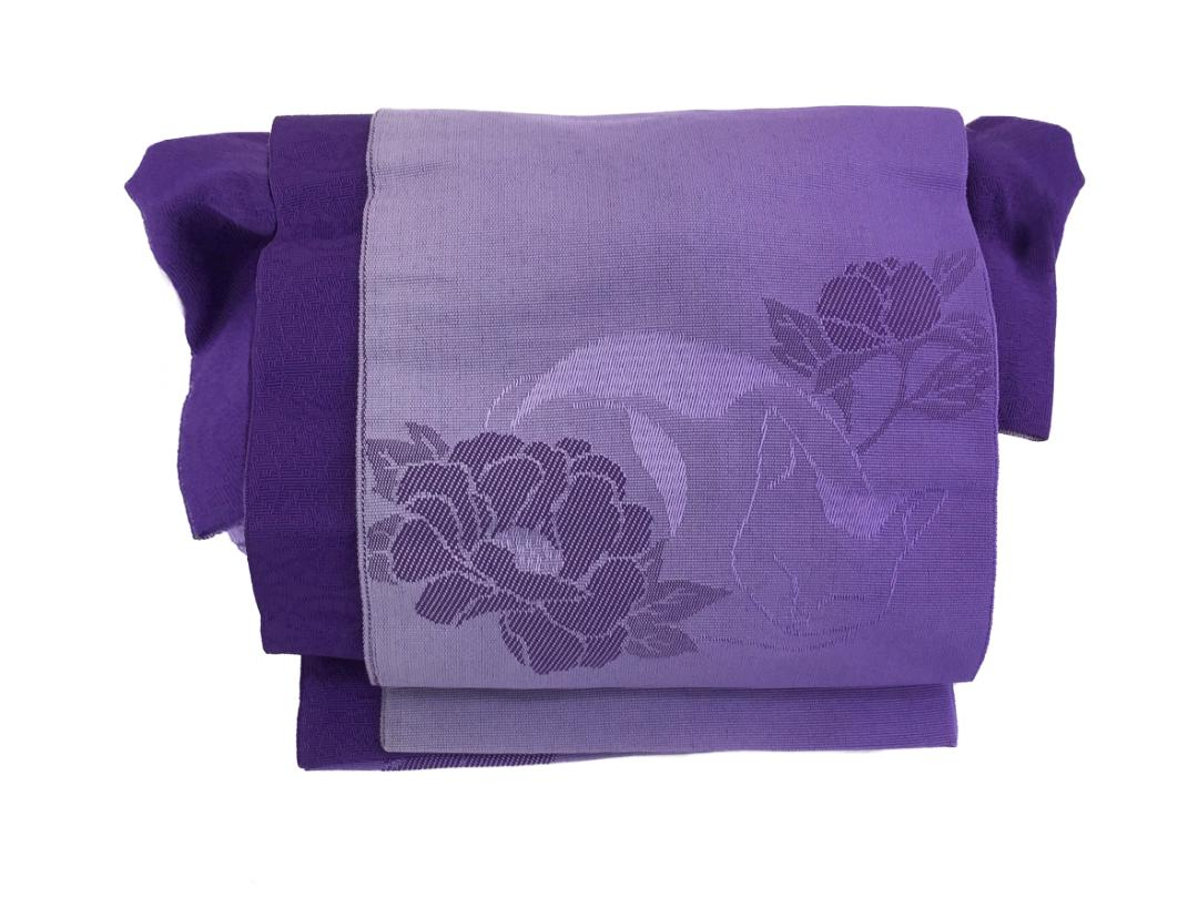 かわいい 簡単装着帯 紫画像