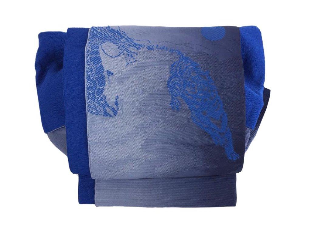 かわいい 簡単装着帯 青の画像