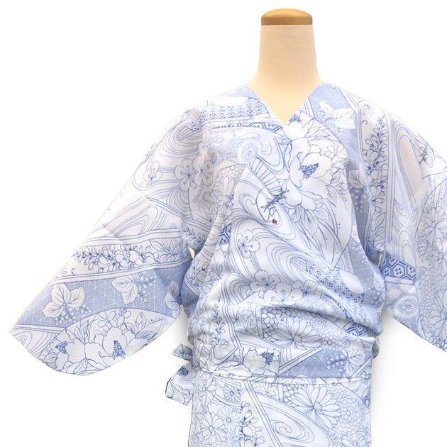 二部式着物 紗 涼風 青の画像