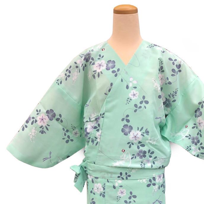 二部式着物 紗 風花 薄緑の画像