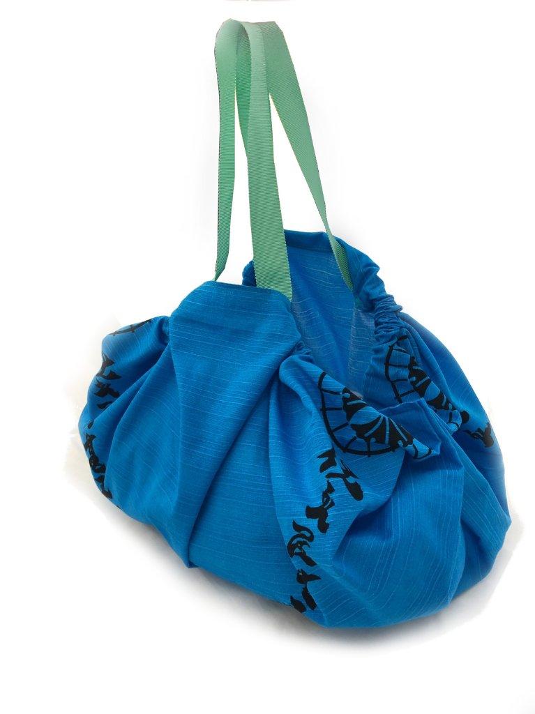 ふろしき便利バッグ 青の画像