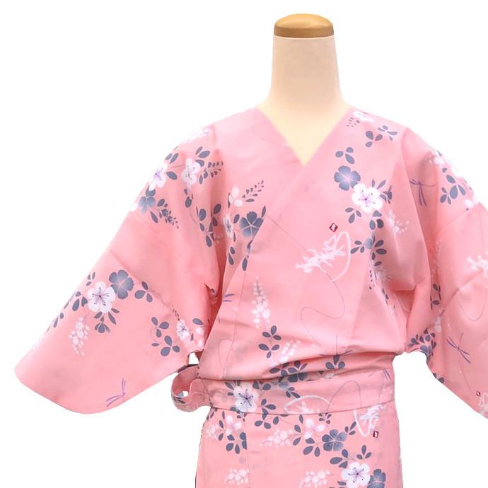 二部式着物 紗 風花 ピンクの画像
