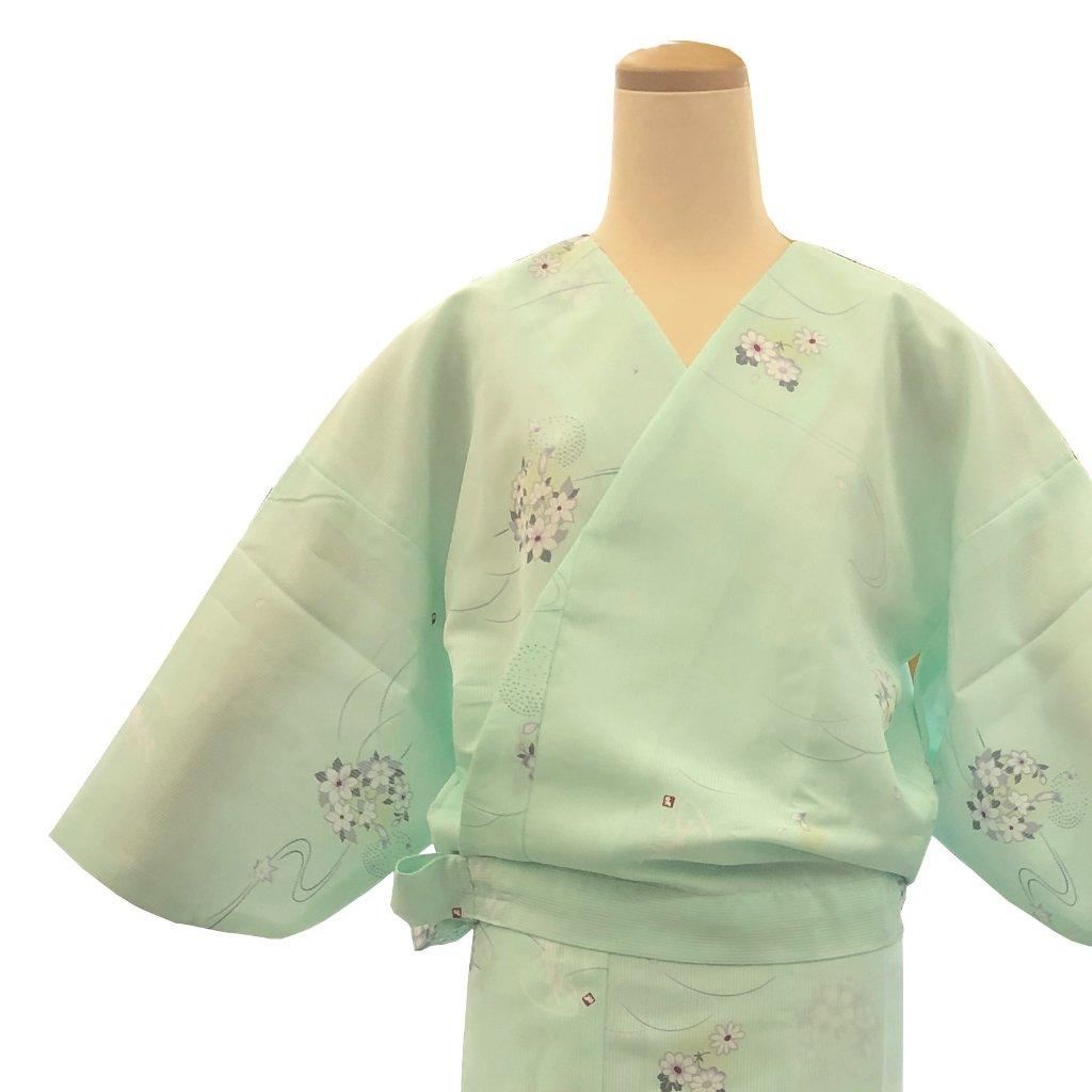 二部式着物 紗 可憐 薄緑の画像