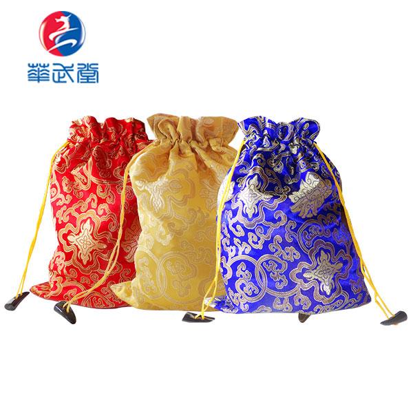 富貴花開どんすチャイナ風太極拳シューズ袋の画像